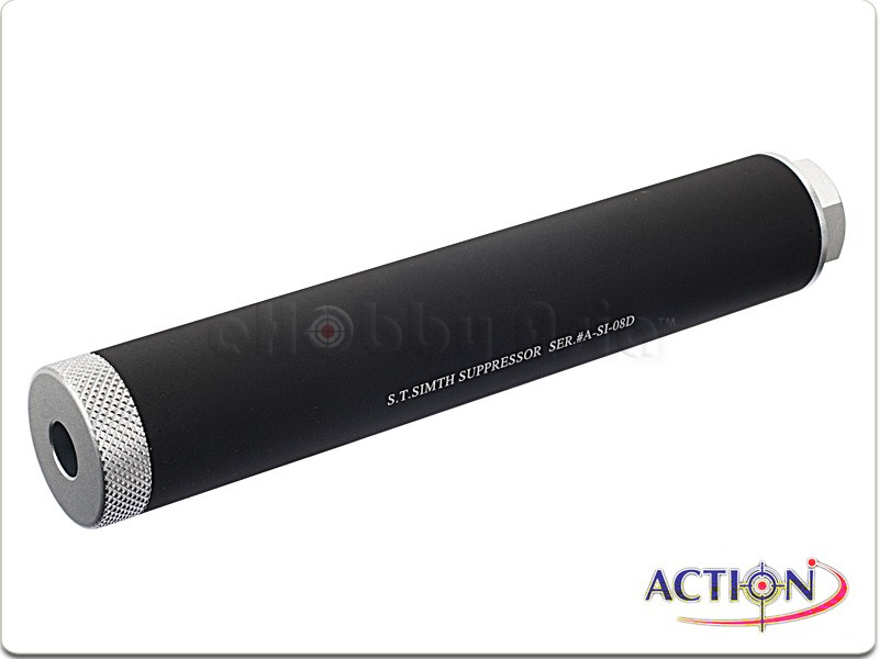 ACTION 180mm S.T. Smith Suppressor Silencer (2-Tone, 14mm CCW)