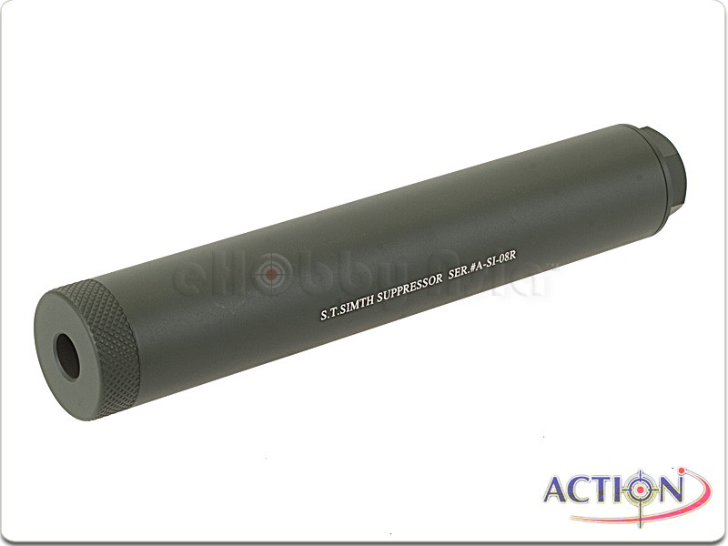 ACTION 180mm S.T. Simth Suppressor Silencer (Ranger Green, 14mm