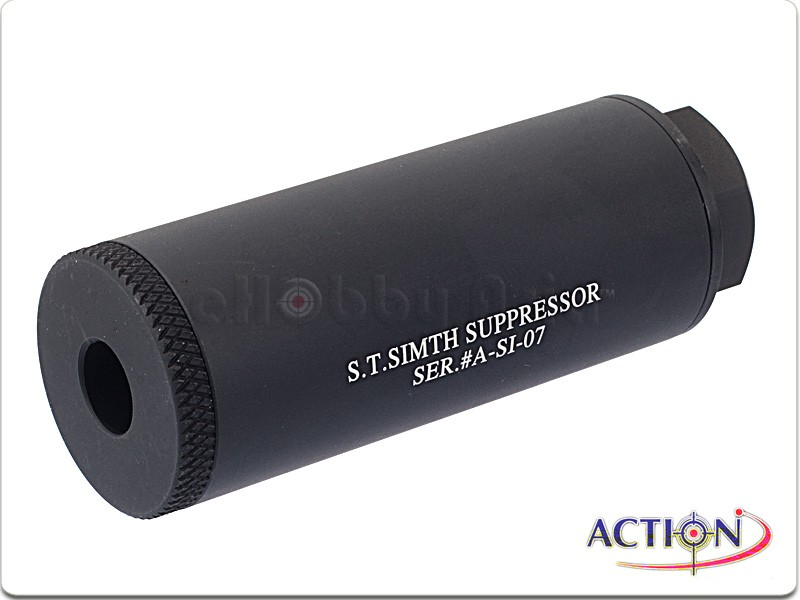 ACTION 80mm S.T. Simth Suppressor Silencer (Black, 14mm CCW)