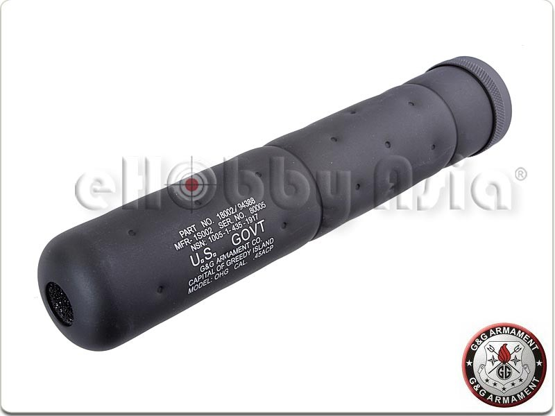 G&G SOCOM Sound Suppressor-L (14mm CCW, Black)