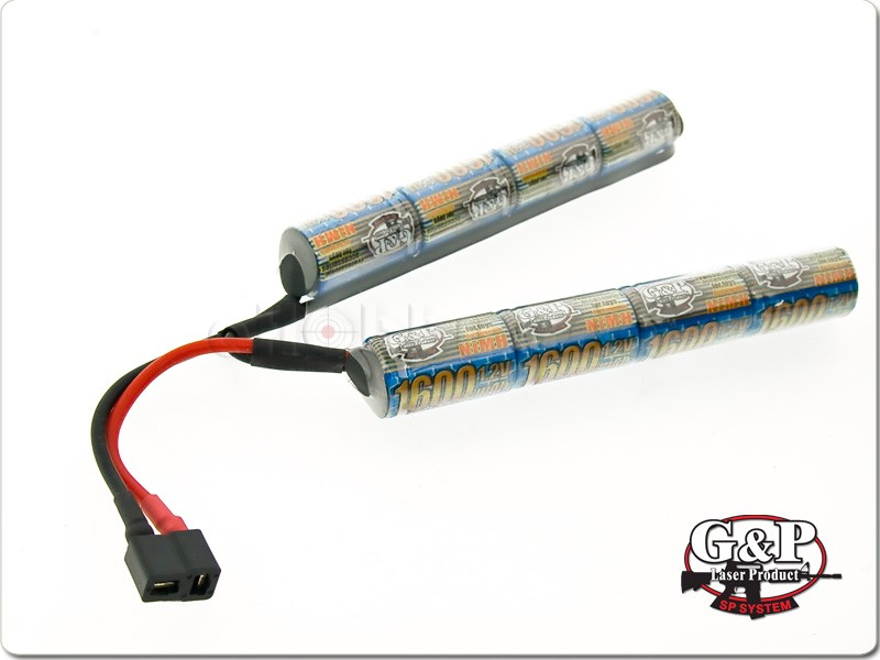 G&P 9.6V 1600mAh Ni-MH Battery (Crane type, DEANS CONNECTOR)