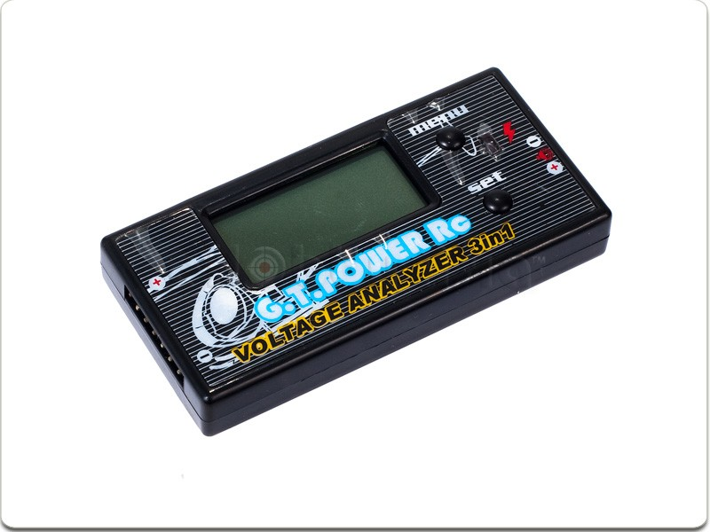 GT POWER 3 in 1 Battery Voltage Analyzer/Checker (2-6S) Checker