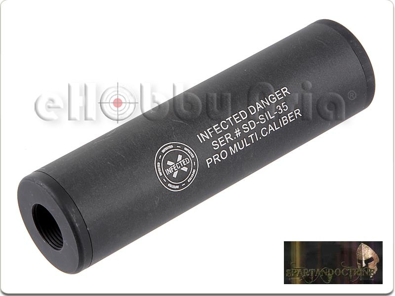 Spartan Doctrine Pro CAL Airsoft Silencer (Infected, 110mm)