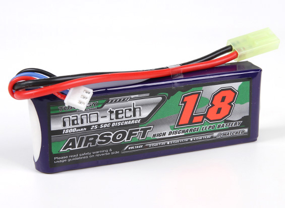 Turnigy Nanotech 7.4v 1800mah Brick 25-50c (Mini Connector)