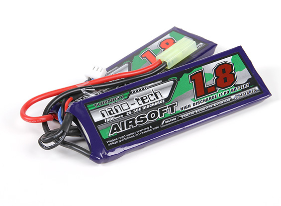 Turnigy Nanotech 7.4v 1800mah Split 25-50c (Mini Connector)